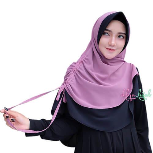 jilbab serut samping