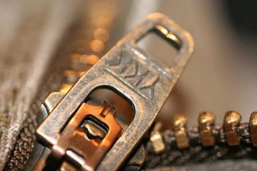 metal zipper adalah