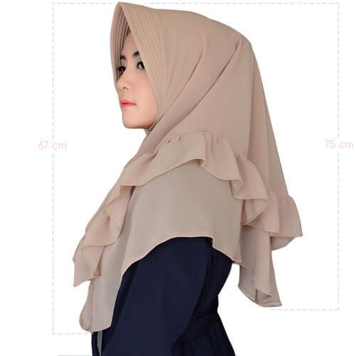 jilbab rempel leher