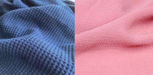 perbedaan kain wafle dan bubble 500x246 - Bahan WAFFLE seperti apa? Contoh gambar dan karakteristik kain waffle